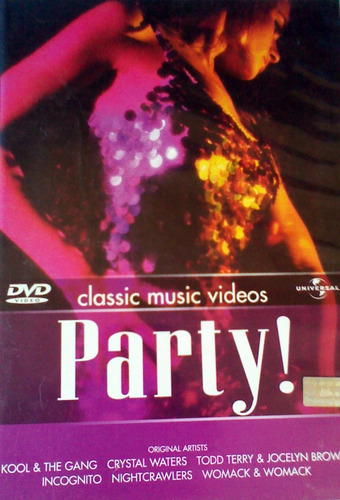 party! classic music videos. funk, soul. dvd importado.