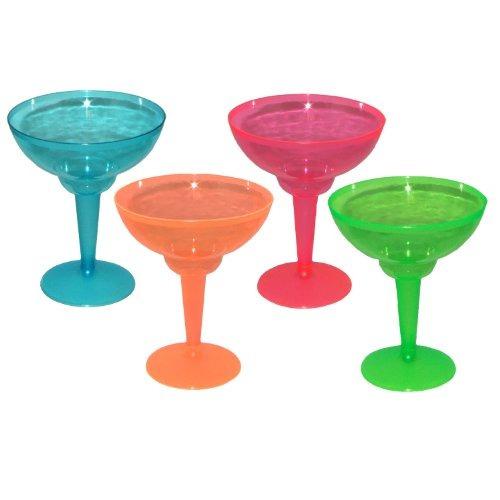 party essentials n121290 brights plastic 2 piezas margarita