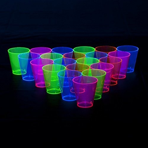 party essentials n26090 brights vaso de chupito de plastico