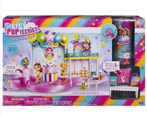 party pop teenies - playset festa poptastic - série 1 sunny