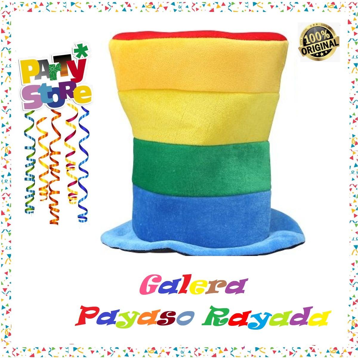 Party Store- Gorro Galera Rayada - Cotillon Disfraz Fiesta