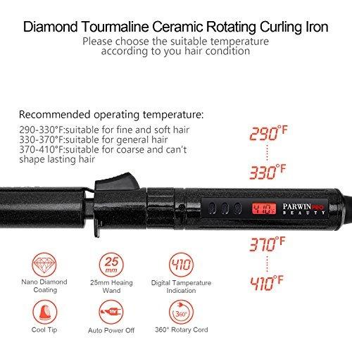 parwin pro diamond tourmaline ceramic curler iron, manual ro