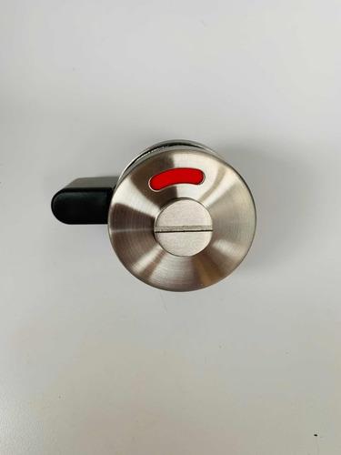 pasador con indicador de acero para puerta de mampara
