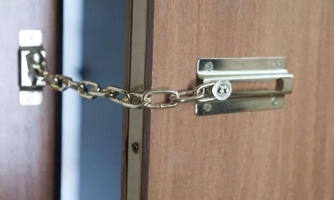 Pasador de seguridad con cadena para puertas y ventanas Puertas de seguridad