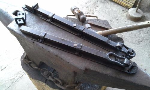 pasador en hierro forjado,pavonado,varios modelos