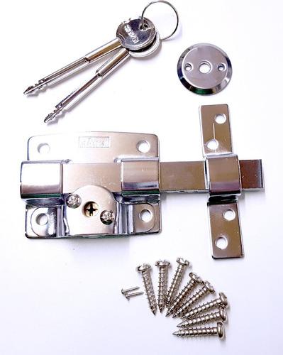 pasador seguridad cerrojo puerta llave cruz  2 unidades
