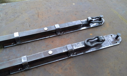 pasador vertical p/portón en hierro forjado,varios modelos