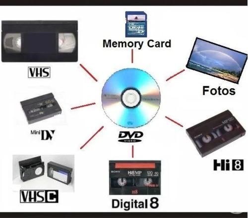 pasaje de vhs a dvd! convertimos todos los formatos!