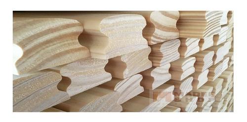 pasamanos de pino clear cep. mold. de 30 x 70 mm x 3,00 mts. - mader shop