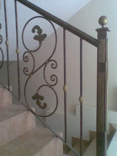 Pasamanos en hierro forjado u s 125 00 en mercado libre - Escaleras hierro forjado ...