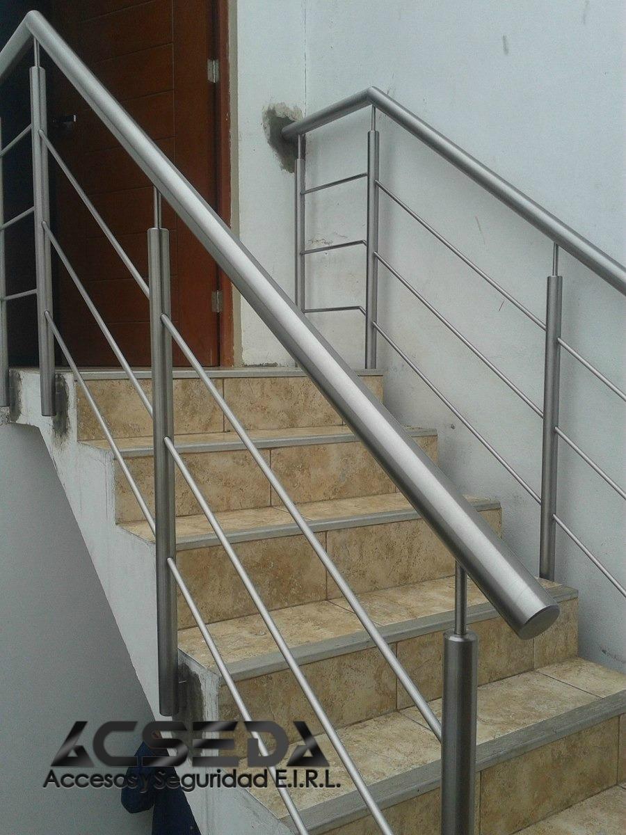 Pasamanos y barandas de acero inoxidable 304 satinado s - Baranda de escalera ...