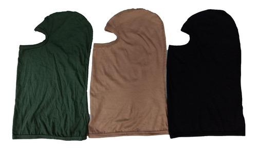 pasamontañas balaclava algodón  camufladas o liso