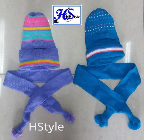 pasamontañas con bufanda para bebé, niño y niña (hstyle)