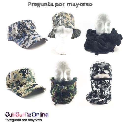 pasamontañas gorro bufanda pixelado verde 1 militar