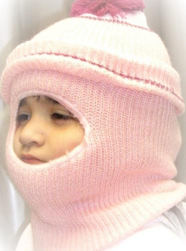 pasamontañas gorro  infantil frio intenso nieve invierno
