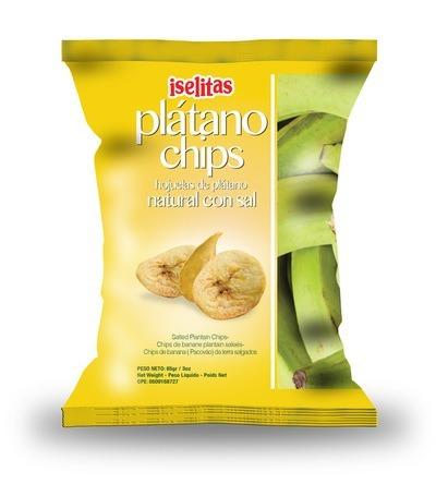 pasapalo- platano chips con sal 300 grs caja de 15 unid