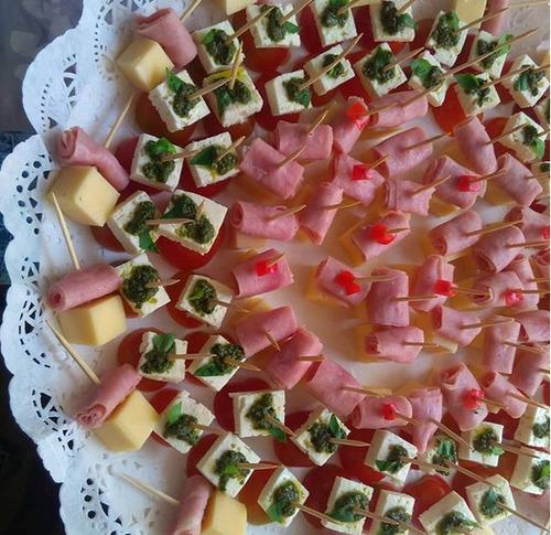pasapalos salados, bandeja de cien pasapalos