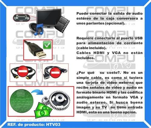 pase de formato hdmi a formato vga y audio computoys zhtv03