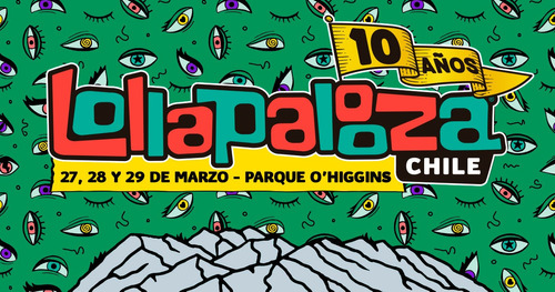 pase general 3 días lollapalooza chile 2020