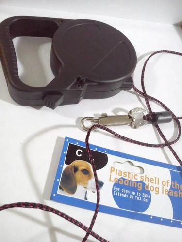 paseador retráctil para mascotas de cinta enrrollable 5mtros