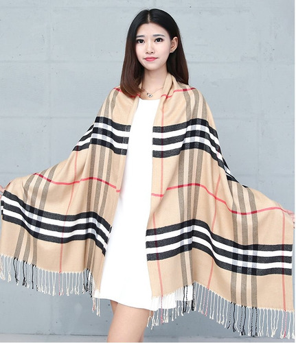 pashmina cashmere plaid pattern. envío gratis.