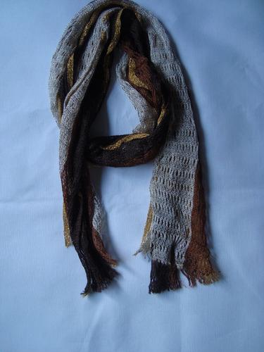 pashmina chalina crochet tonos tostados envio gratis+cuotas!