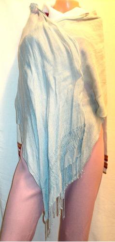pashmina mujer chalina 45cm x 1.80m isadora india