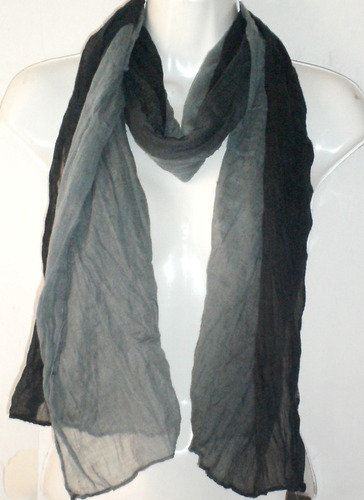 pashmina palestina bufanda mascada negra con gris unisex