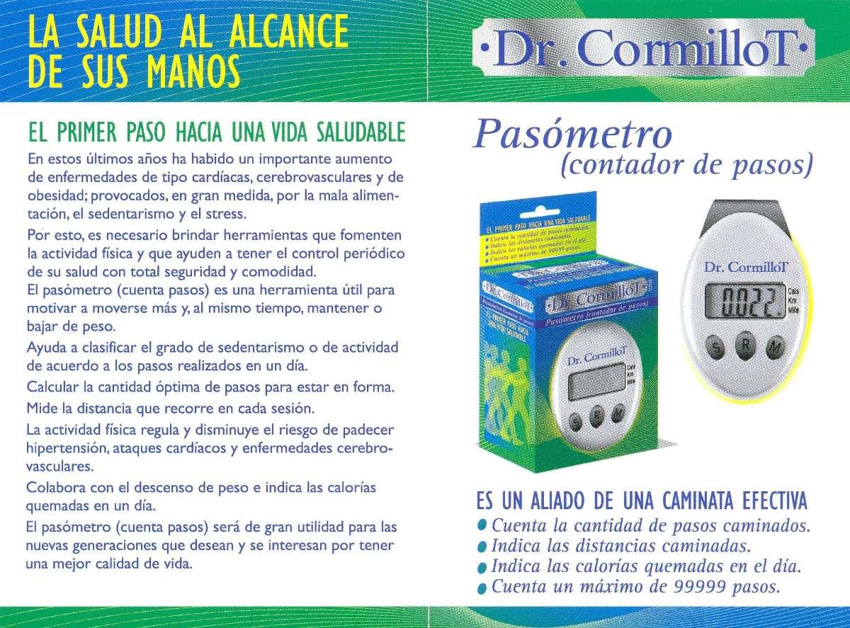 Pasometro Contador De Pasos Calorias Podometro Dr. Cormillot ...