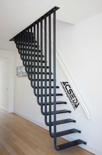 Pasos de madera escaleras y barandas de acero inoxidable for Escaleras 8 pasos