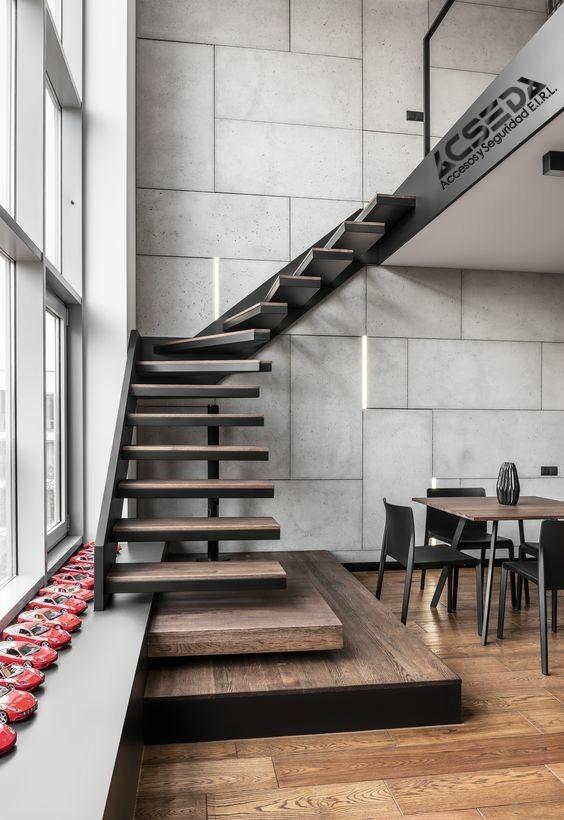 Pasos para escaleras estructuras de metal para interiores - Precio escaleras interiores ...