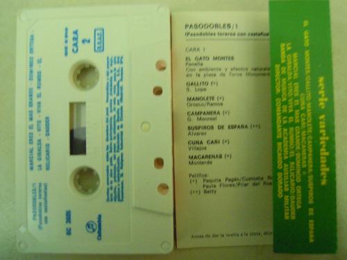 pasosdobles/1 casette (pasosdobles toreros con castañuelas)