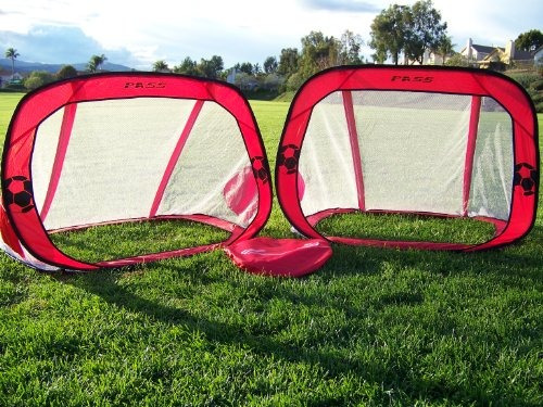 pass red pop-up 4x3 fold-poder, portátiles fútbol redes de