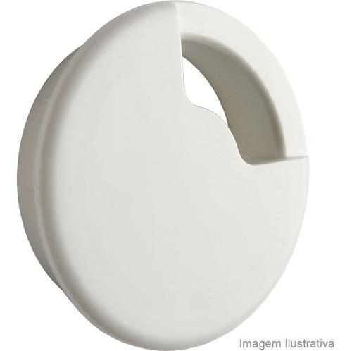 passa fio para móveis 60mm branco fixtil fixtil