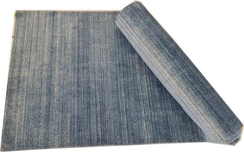 passadeira 3m silky azul indiano sari 300x80cm artesanal