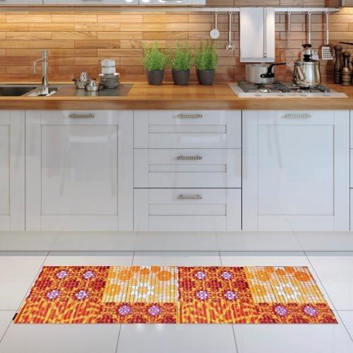 passadeira soft antiderrapante cozinha banheiro chão 1mx43cm