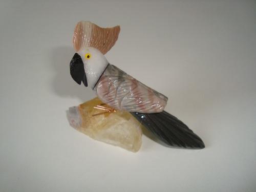 pássaro arara papagaio pedra natural dolomita quartzo 6