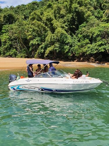 passeio aluguel de lancha/barco em ubatuba