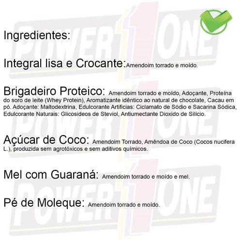 pasta amendoim integral crocante ou lisa power one caixa c/8