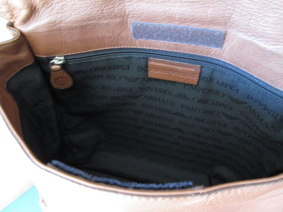 Bolsa De Couro Masculina Armani : Pasta bolsa carteiro emporio armani masculina couro r