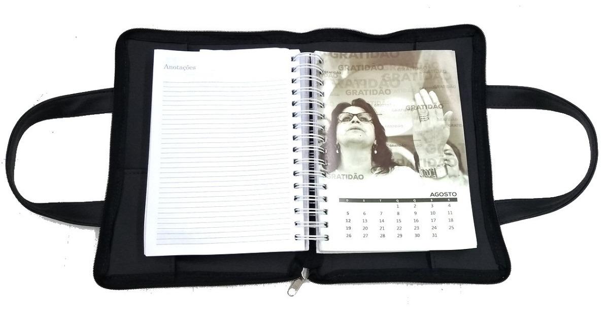 a8375d92d0cdf Pasta Bolsa De Mão Porta Livro Bíblia Agenda Couro Ecológico - R  32 ...