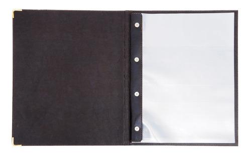 pasta cardápio rústico em couro 20 unidades + 2 porta conta