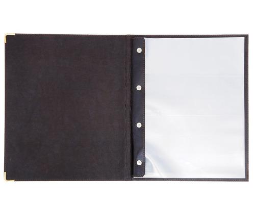 pasta cardápio rústico em couro  porta comanda  porta conta