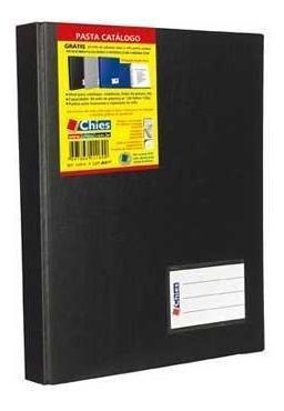 pasta catálogo c/ 100 envelopes a4 jumbo preta chies pt 1 un