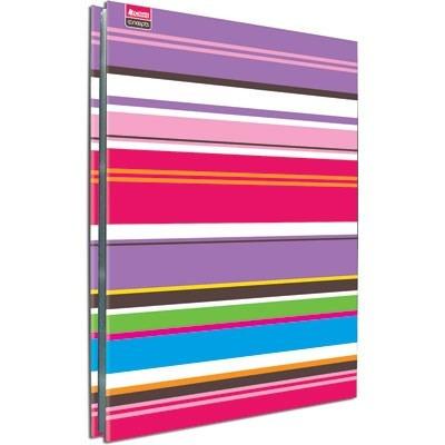 pasta catálogo ofício 50 plasticos capa dura listras colorid