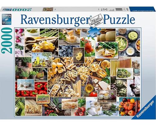 pasta collage food junkies rompecabezas 2000p ravensburger
