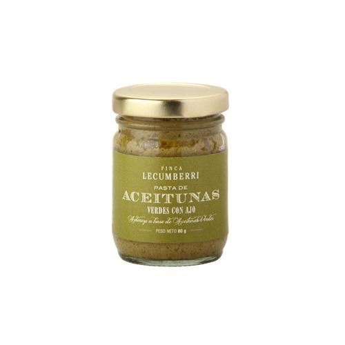 pasta de aceituna verde con ajo finca lecumberri x80grs