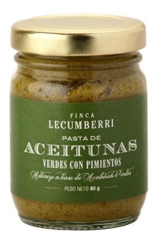 pasta de aceituna verde con pimiento finca lecumberri x80grs