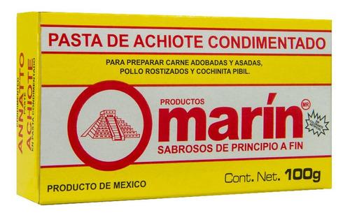 pasta de achiote condimentado marin 100 g