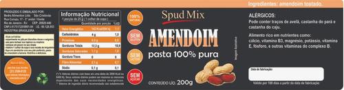 pasta de amendoim 100% integral